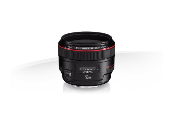 Een Canon 50mm standaardobjectief